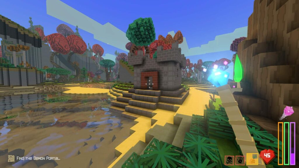 Approaching a small castle to search for loot in the Florid Vale