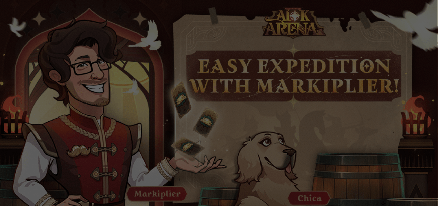 There's a new barkeeper in town – Markiplier joins the Tavern staff in AFK Arena
