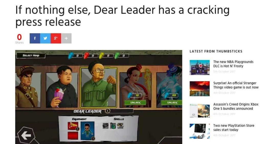 Dear Leader press