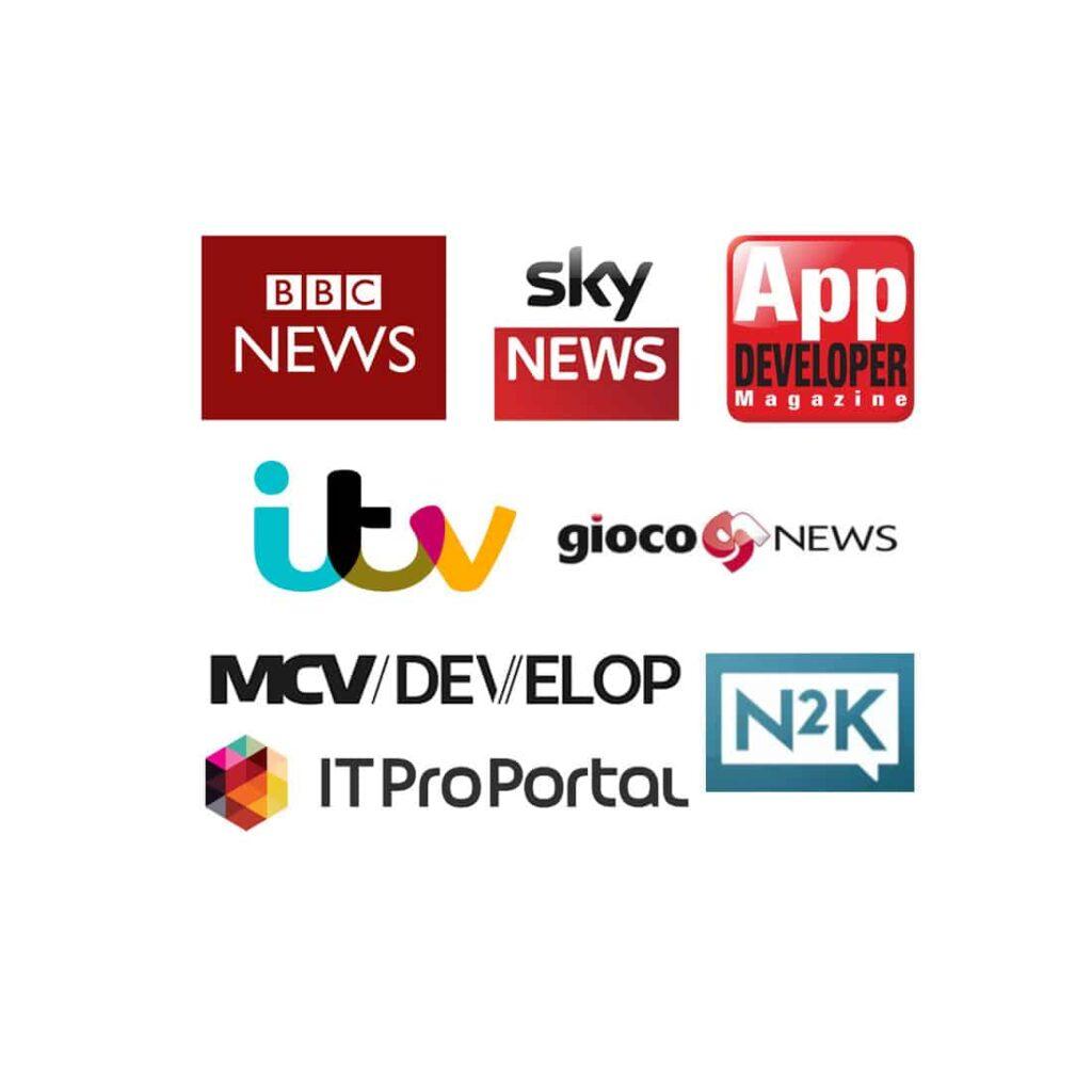 MGF media coverage logos